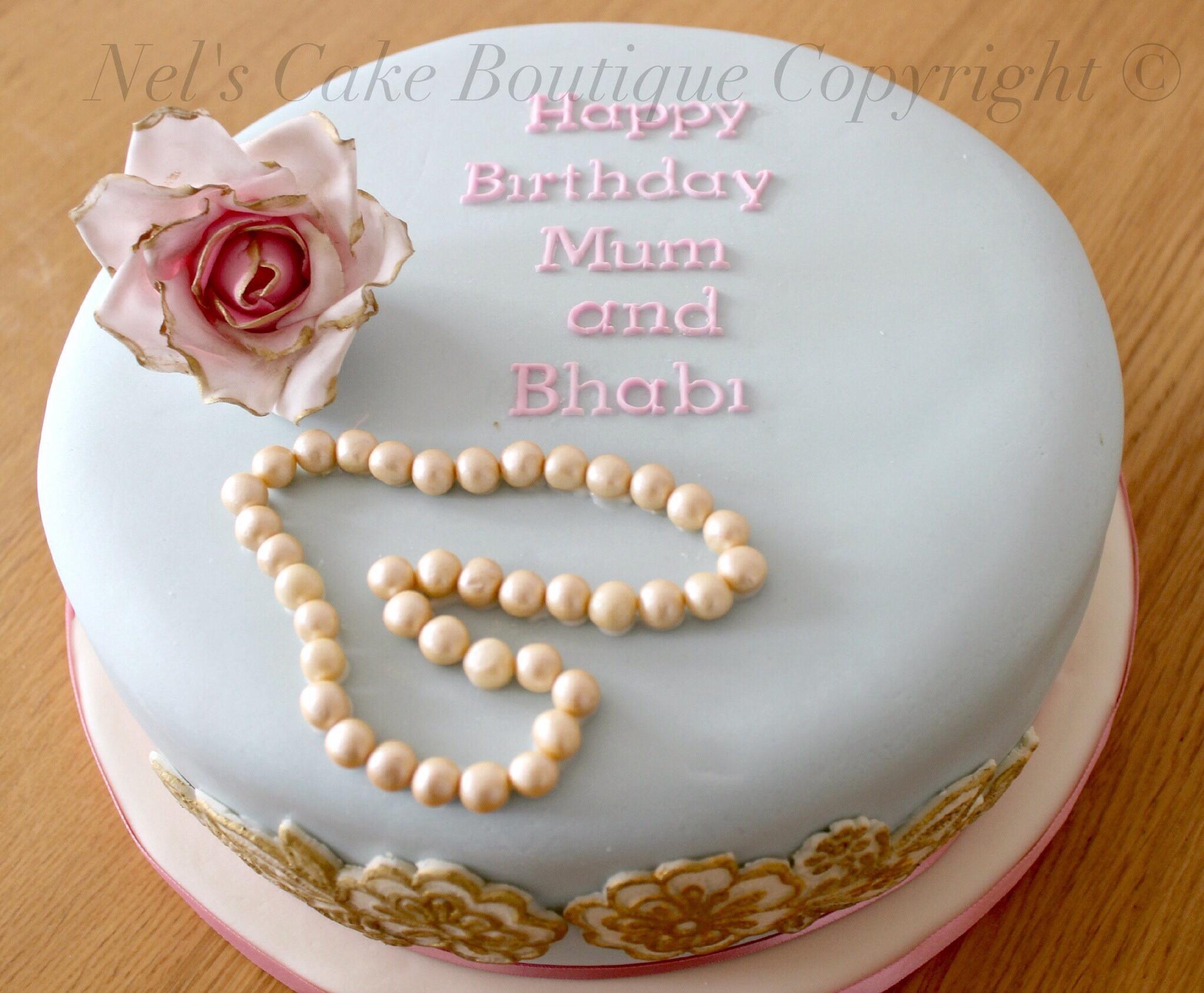 Vintage Shabby Chic Birthday Cake Cakecentral