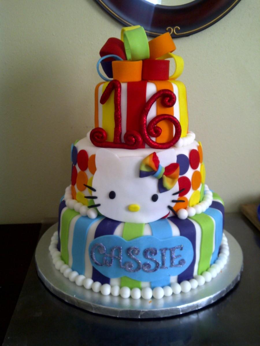 Hello Kitty Rainbow Cake Recipe