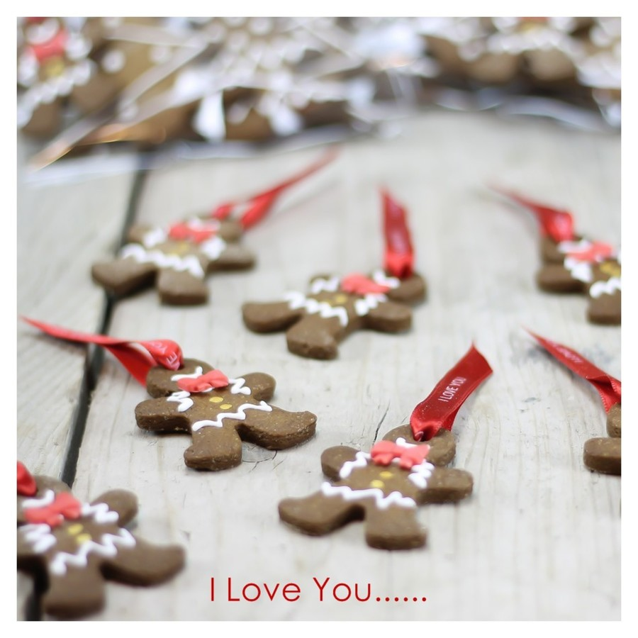 Gingerbread Man I Love You As Gift For Christmas  on Cake Central