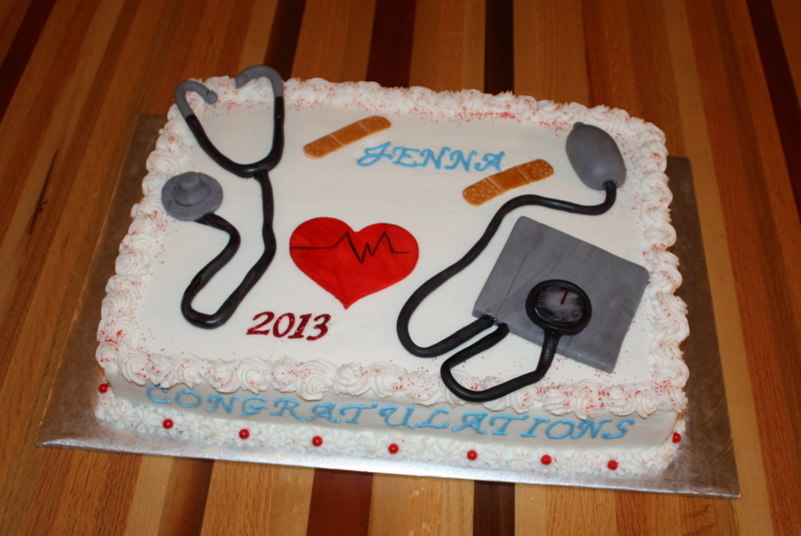Medical Assistant Graduation Cake on Cake Central
