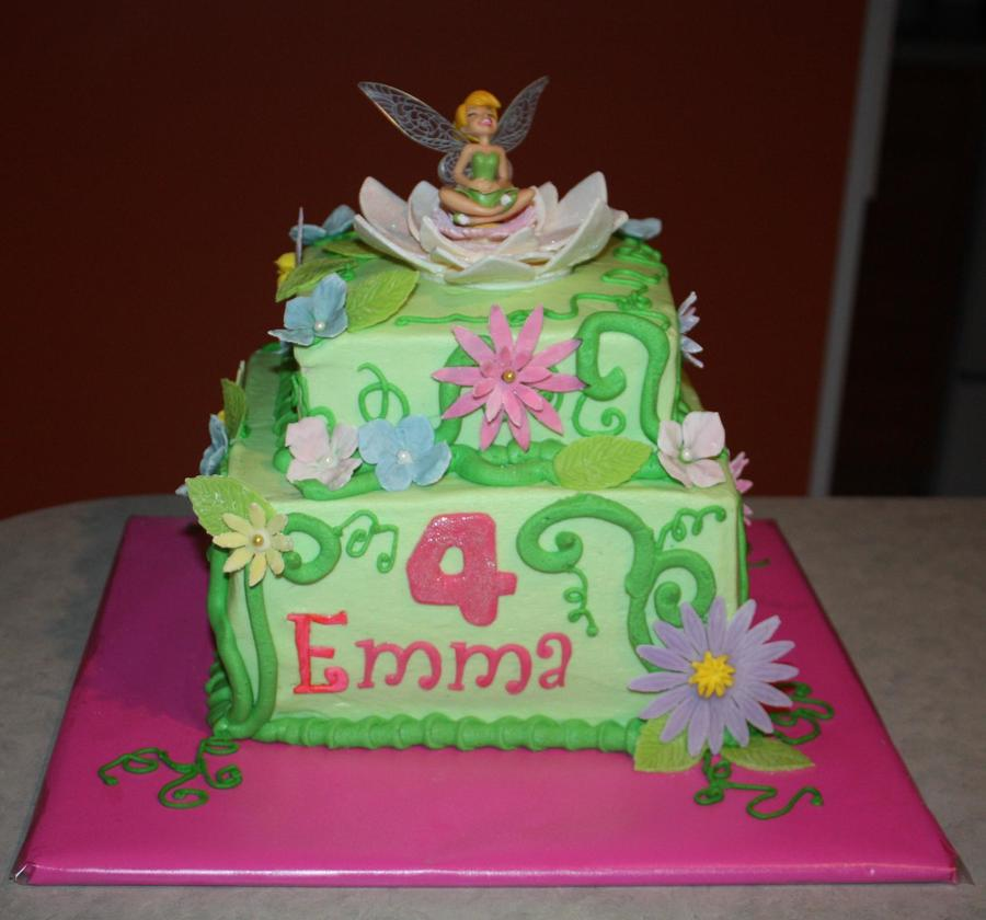 Tinker Bells Enchanted Garden on Cake Central