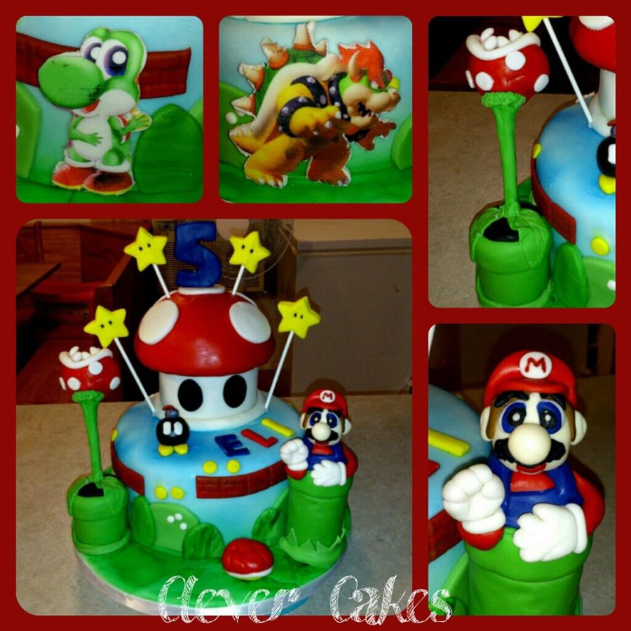 Mario Cake I Made For A Special Little Boy on Cake Central