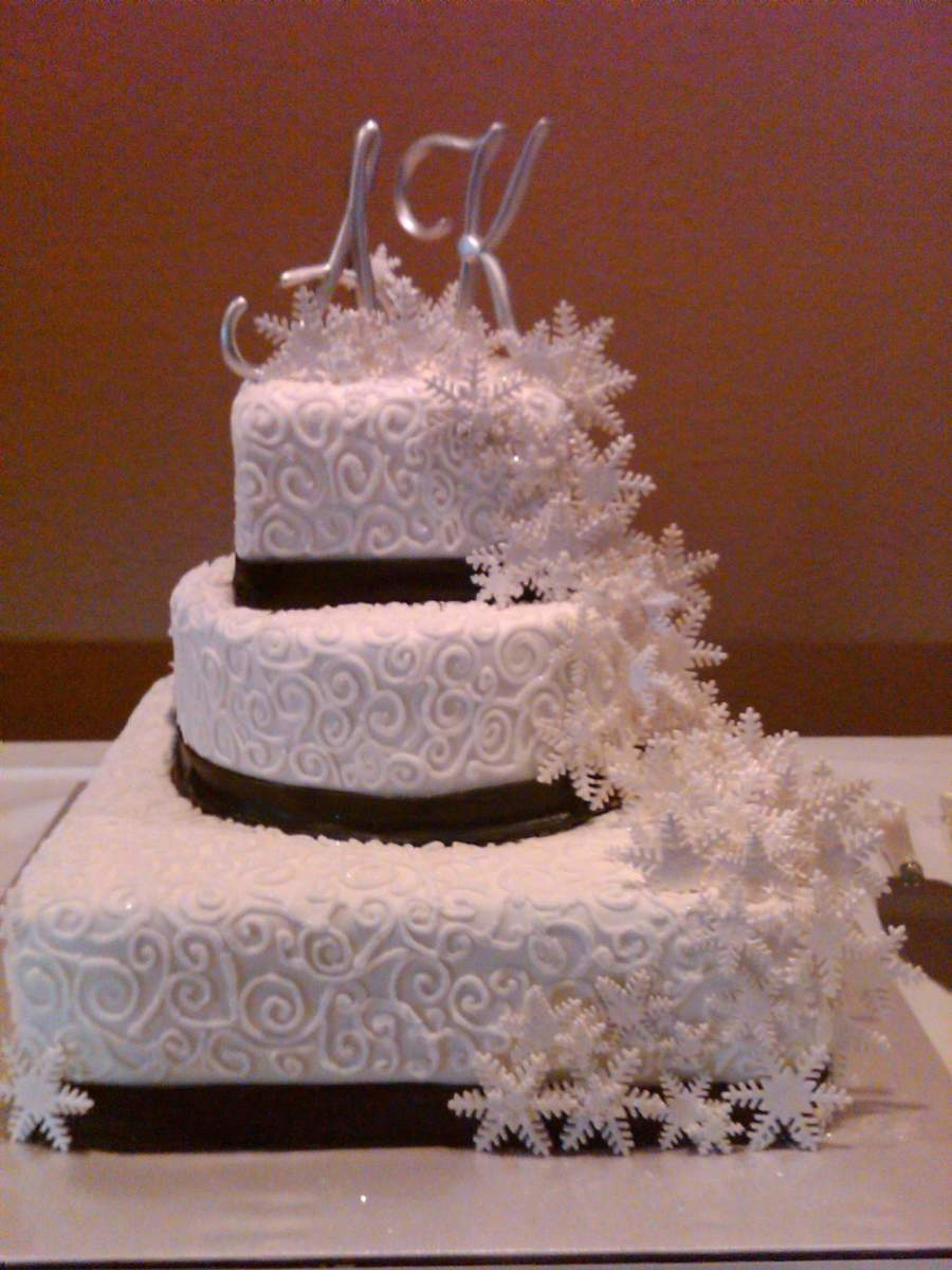 Snowflake Wedding on Cake Central