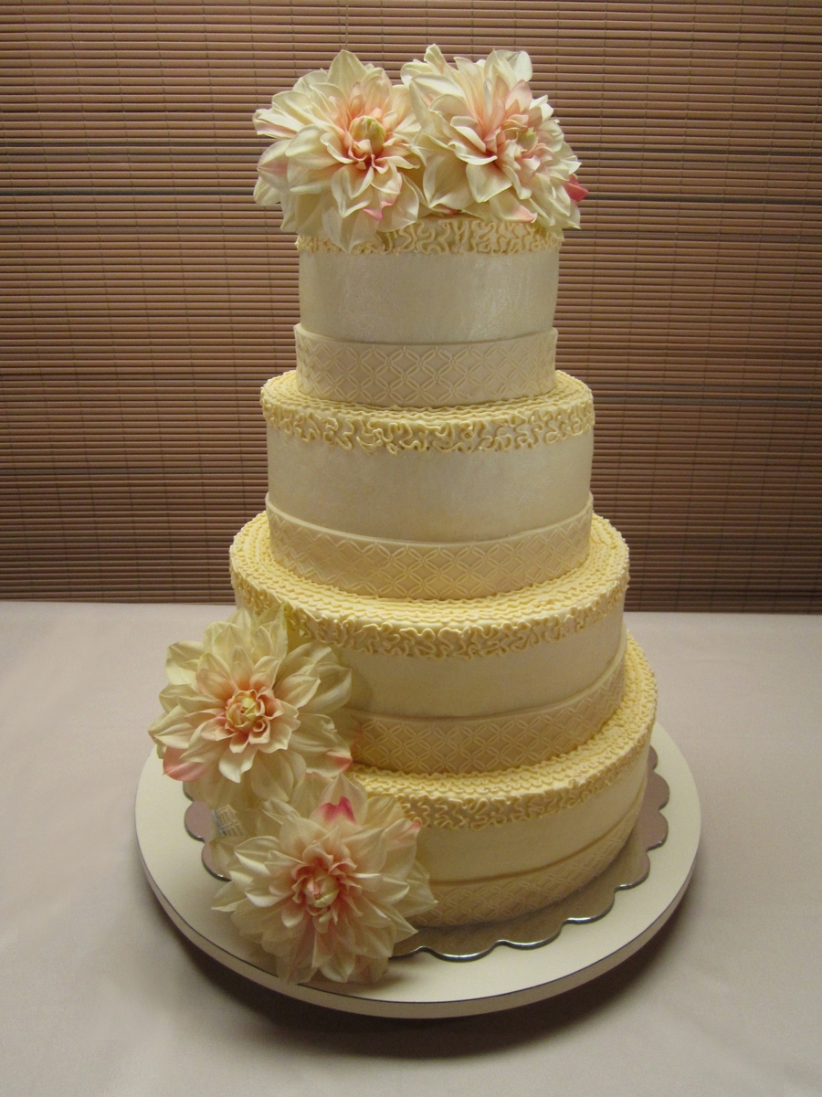 Angie's Wedding Cake on Cake Central
