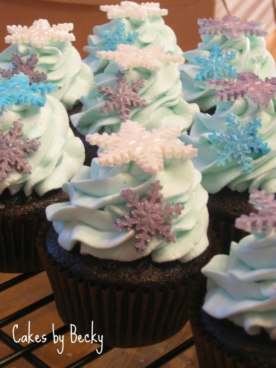 Jewel Tone Snowflake Cupcakes on Cake Central