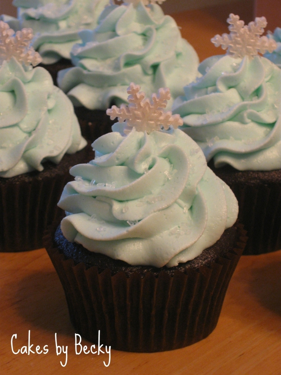 Snow And Ice Cupcakes on Cake Central