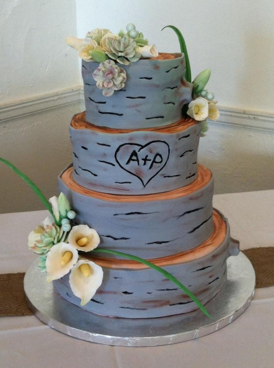 Woodland Themed Wedding Cake on Cake Central