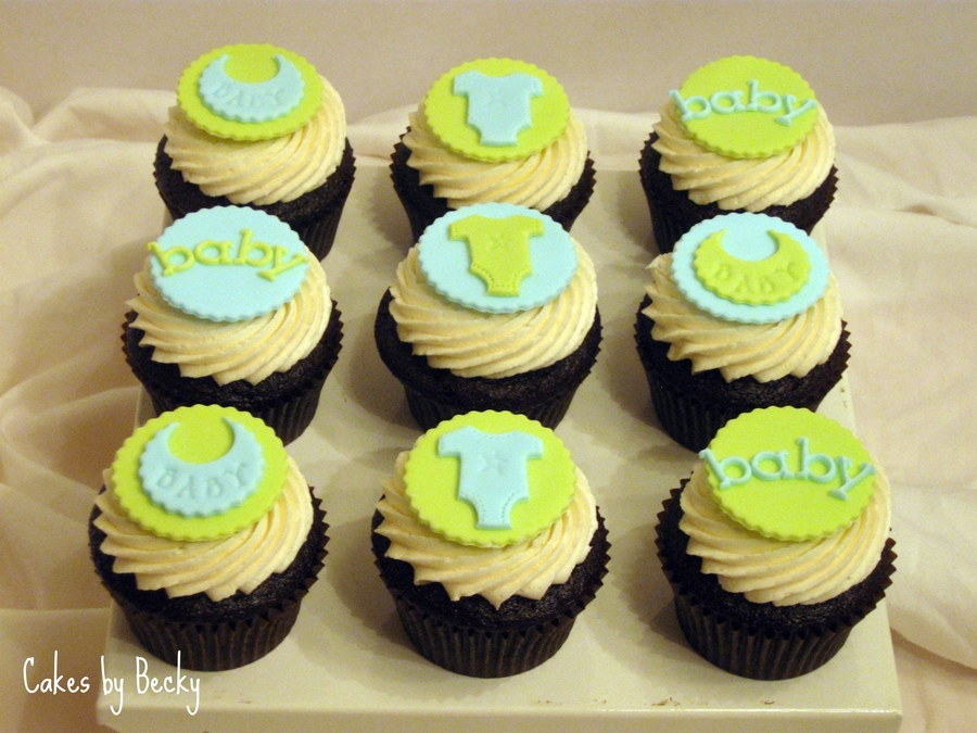 Baby Shower Cupcakes Blue ~ Green blue baby shower cupcakes cakecentral