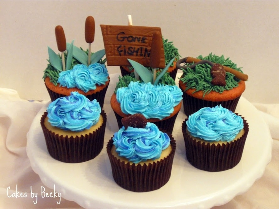 Gone Fishin' Cupcakes on Cake Central
