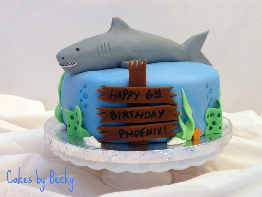 Shark Birthday Cake on Cake Central