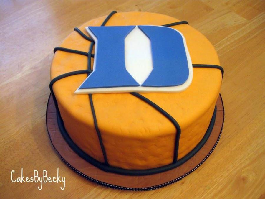 Grooms Basketball Cake And Cupcakes