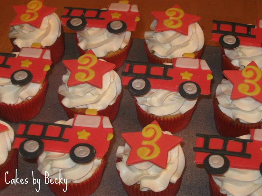 Firetruck Cupcakes on Cake Central