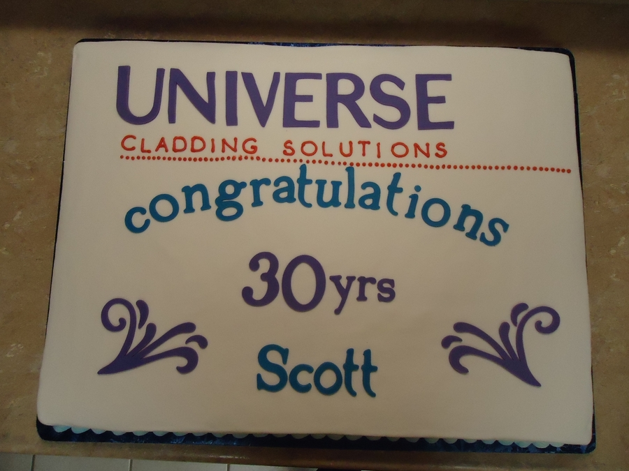 30 Yrs Company Anniversary on Cake Central