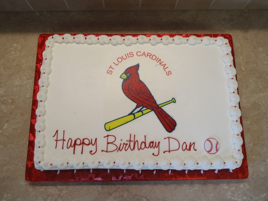 Super St Louis Cardinals Birthday Cake Cakecentral Com Funny Birthday Cards Online Fluifree Goldxyz