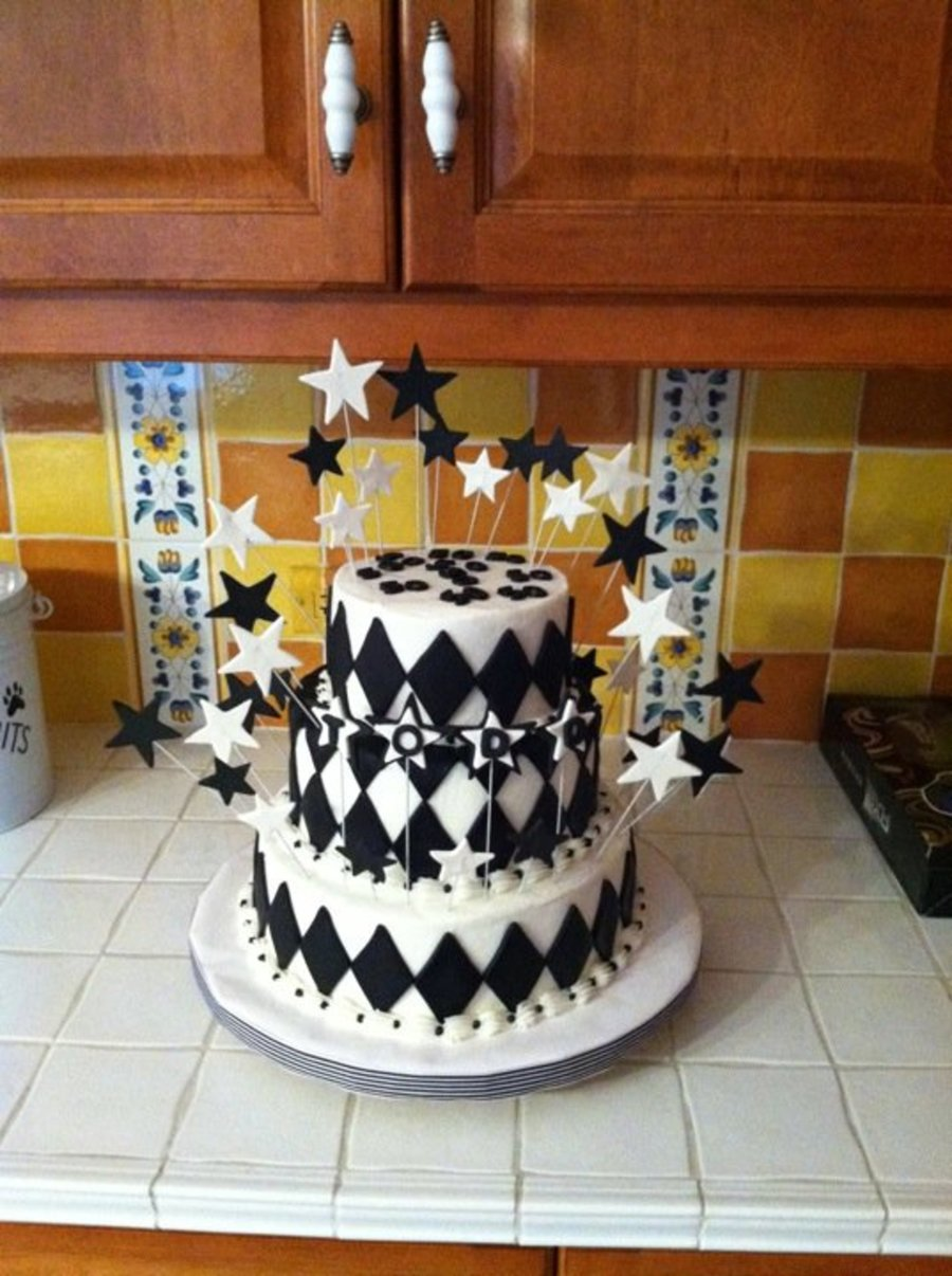 Black And White 50Th Birthday on Cake Central