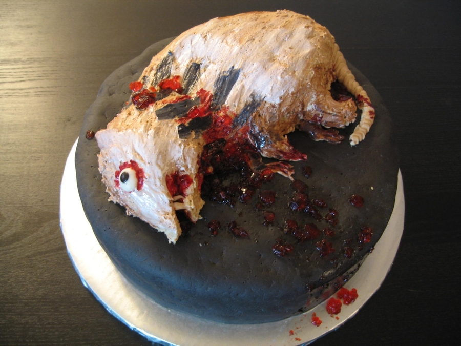 Road Kill Cake on Cake Central