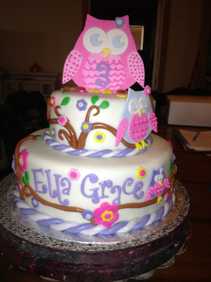Ella Grace's Owl Cake on Cake Central