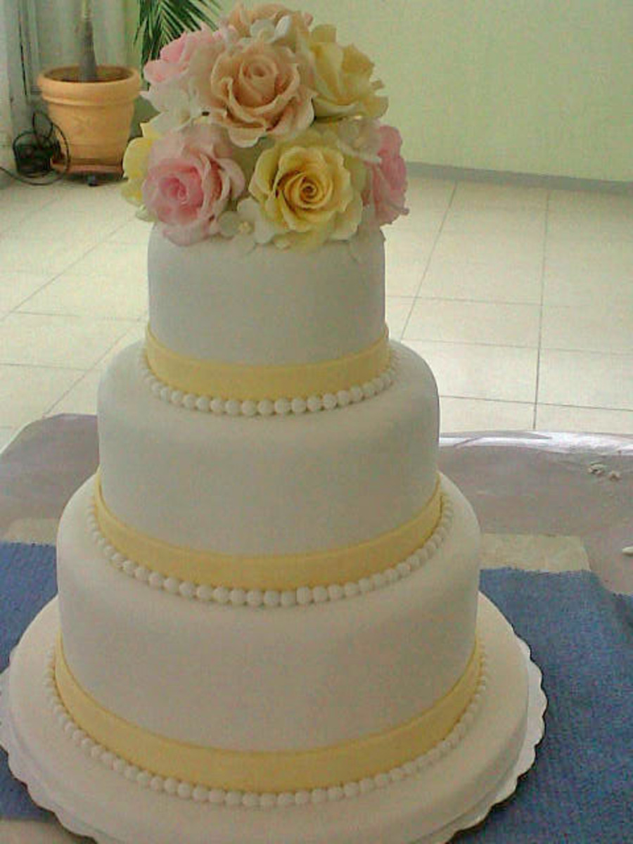 Pale Yellow And Other Pastel Colors on Cake Central