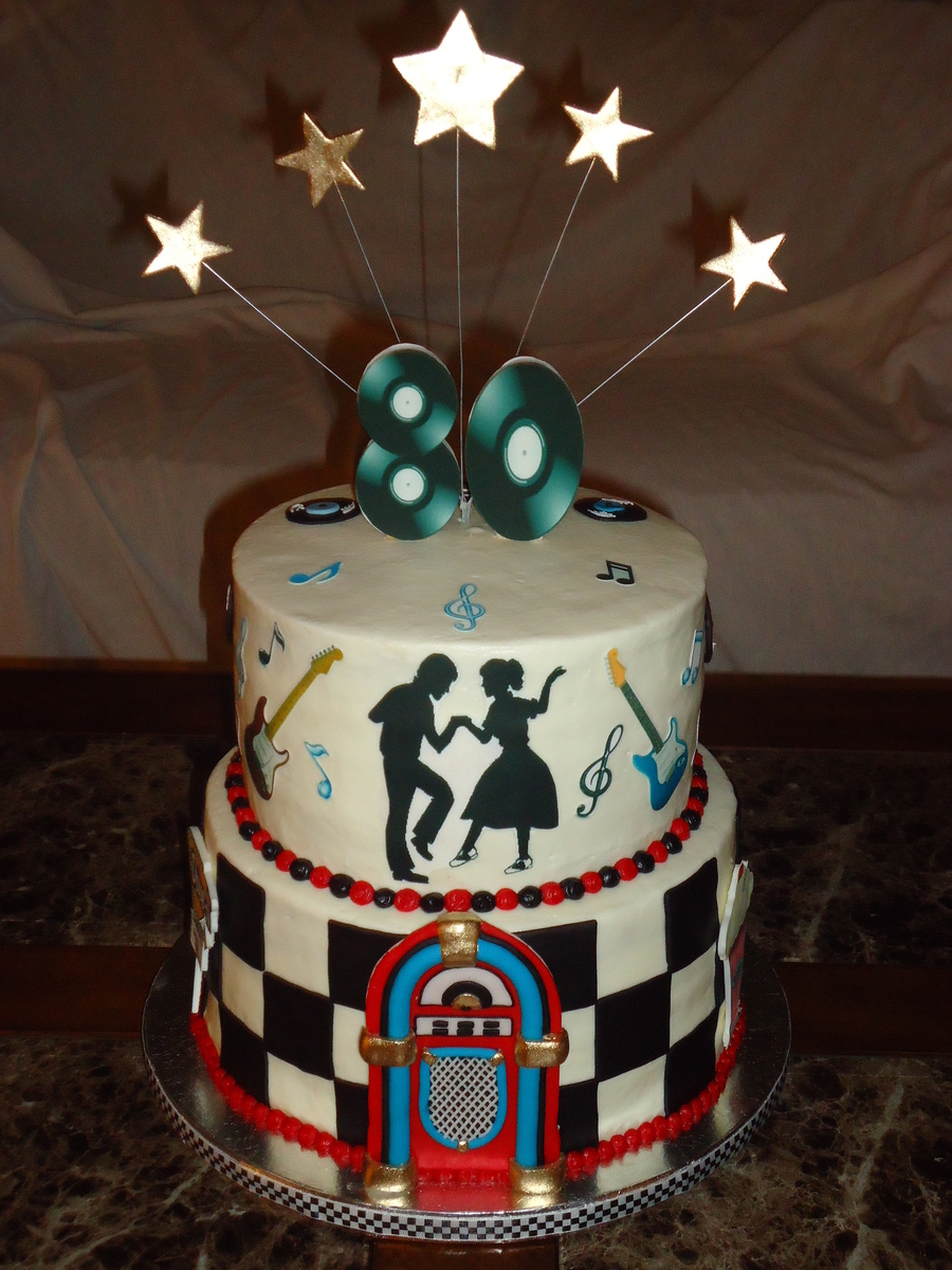 50s Themed 80th Birthday Cakecentral Com