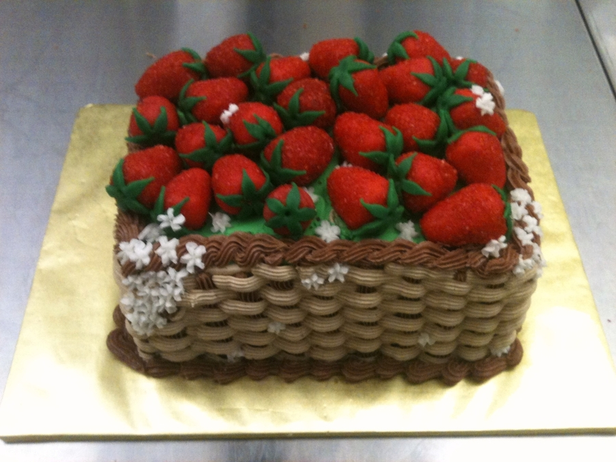 Strawberry Basket on Cake Central