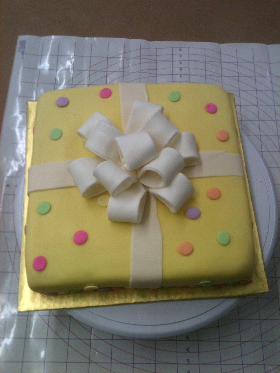 Cake Present With Bow on Cake Central