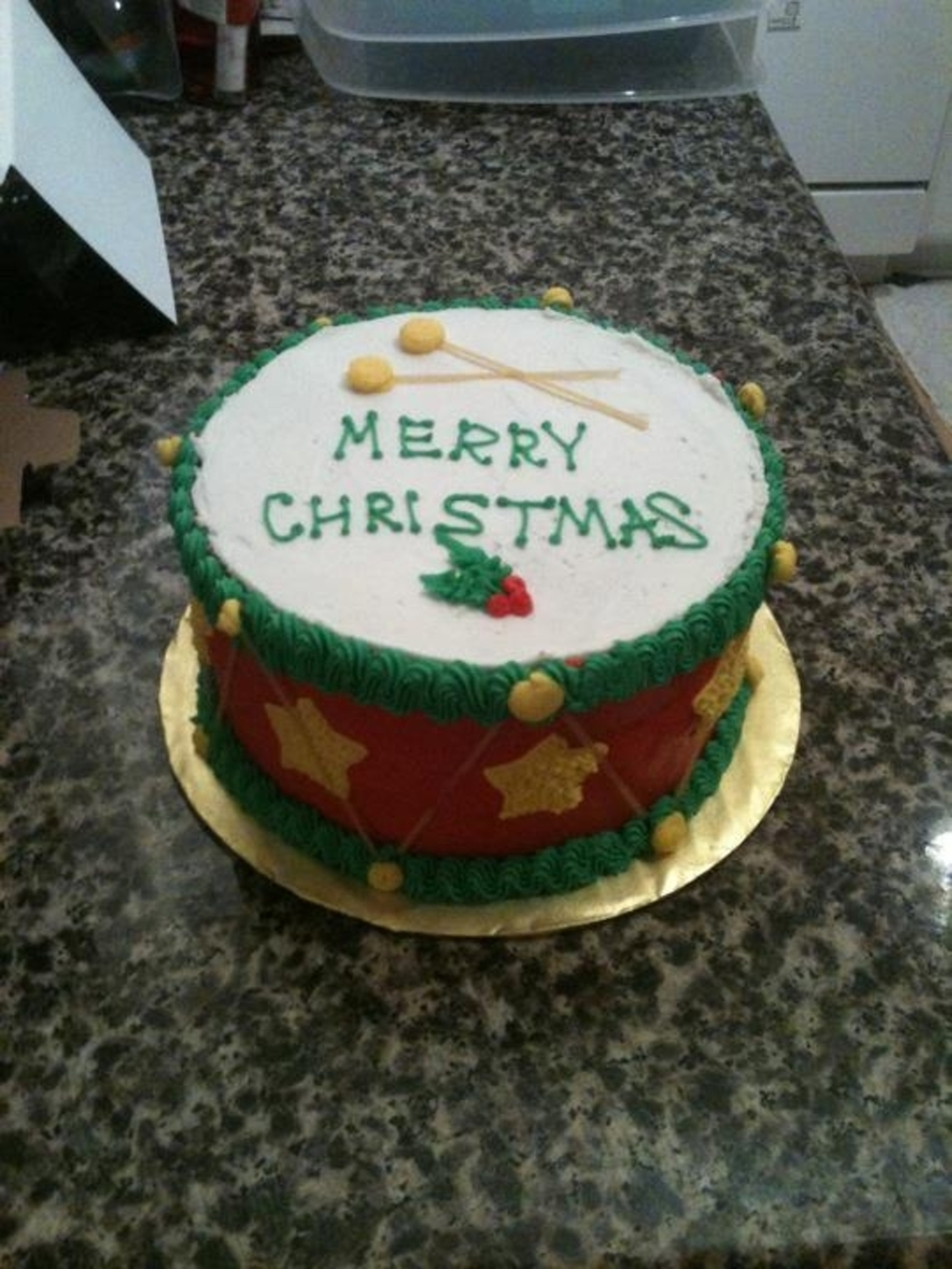 Christmas Drum on Cake Central