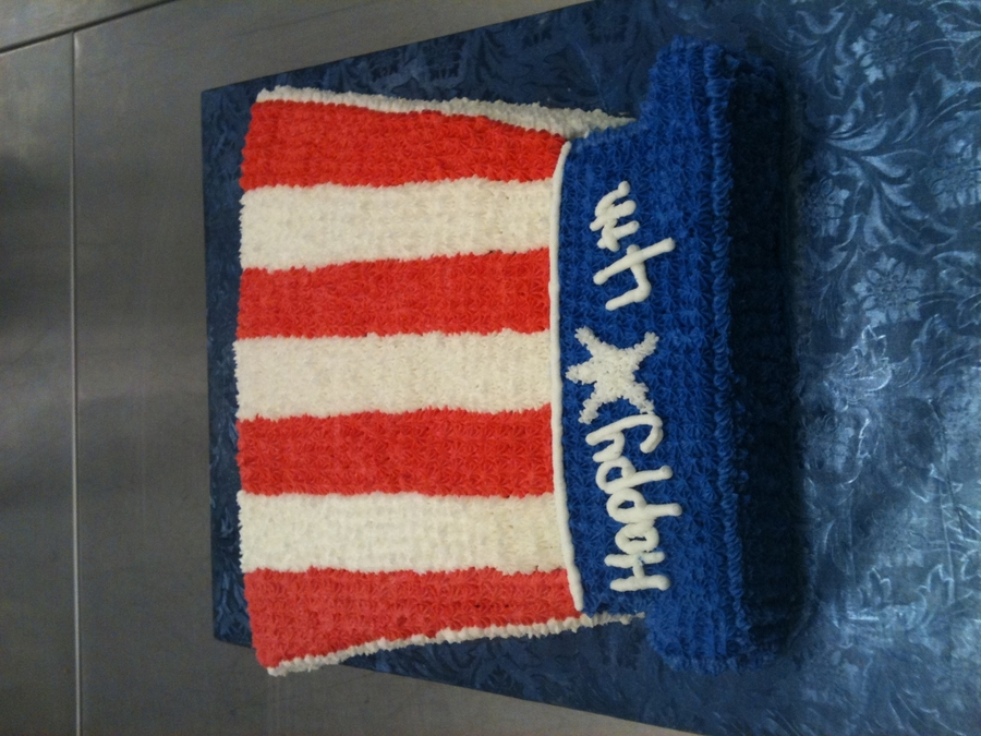 Uncle Sam's Top Hat on Cake Central