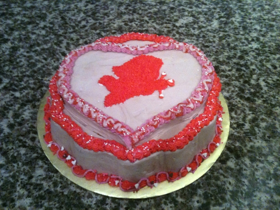 Valentine's Day Cupid Cake  on Cake Central