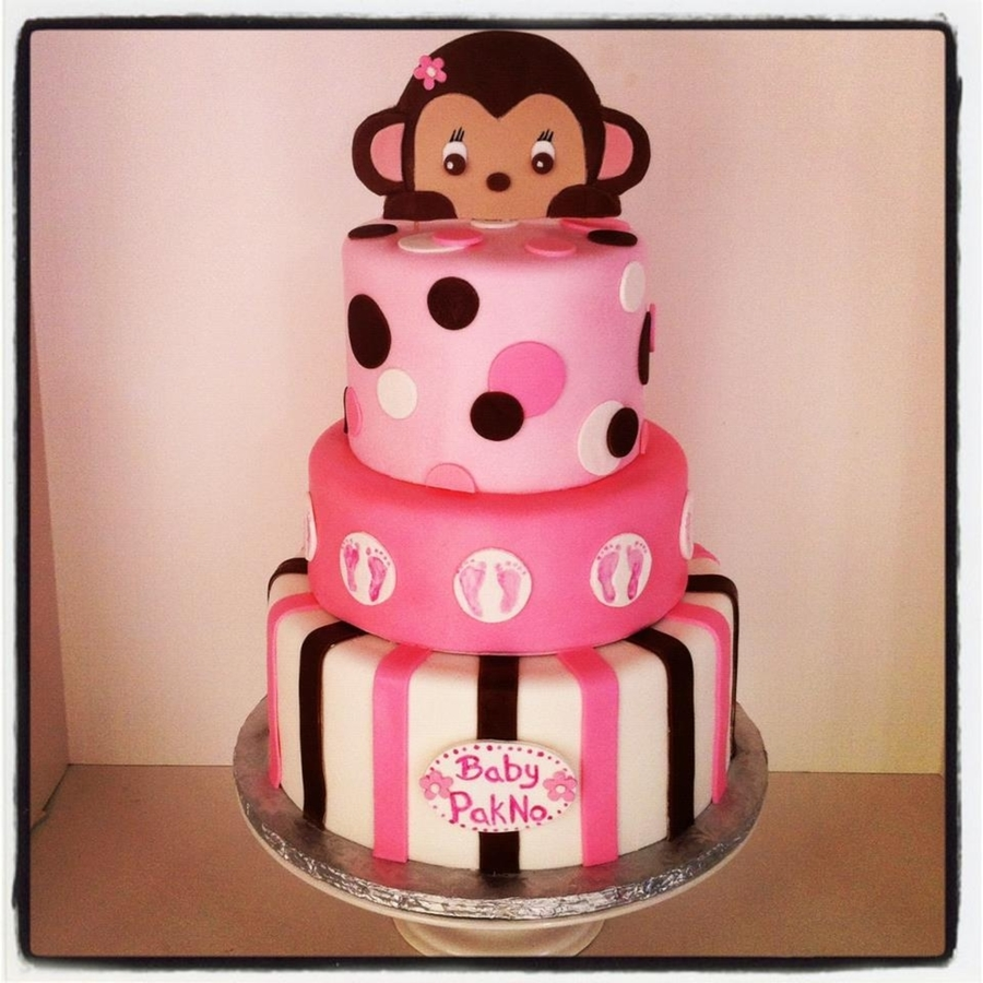 Awesome Monkey Baby Shower Cake On Cake Central