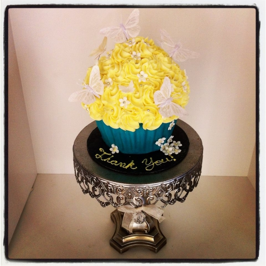 Butterfly Giant Cupcake on Cake Central