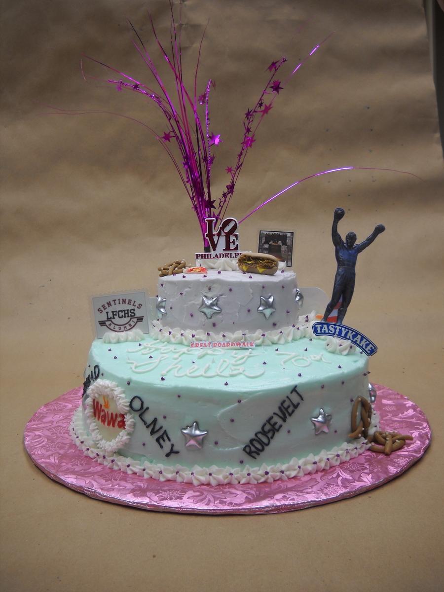 Awe Inspiring Philadelphia 70Th Birthday Cake Cakecentral Com Funny Birthday Cards Online Inifodamsfinfo