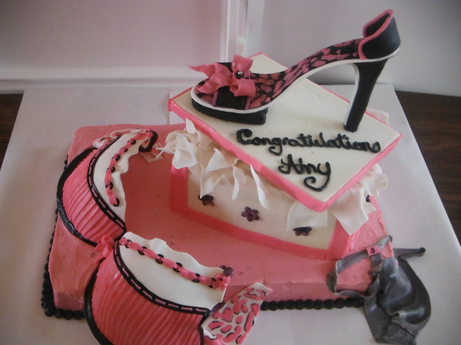Shoe Box With Shoe, Bra And Underwear  on Cake Central
