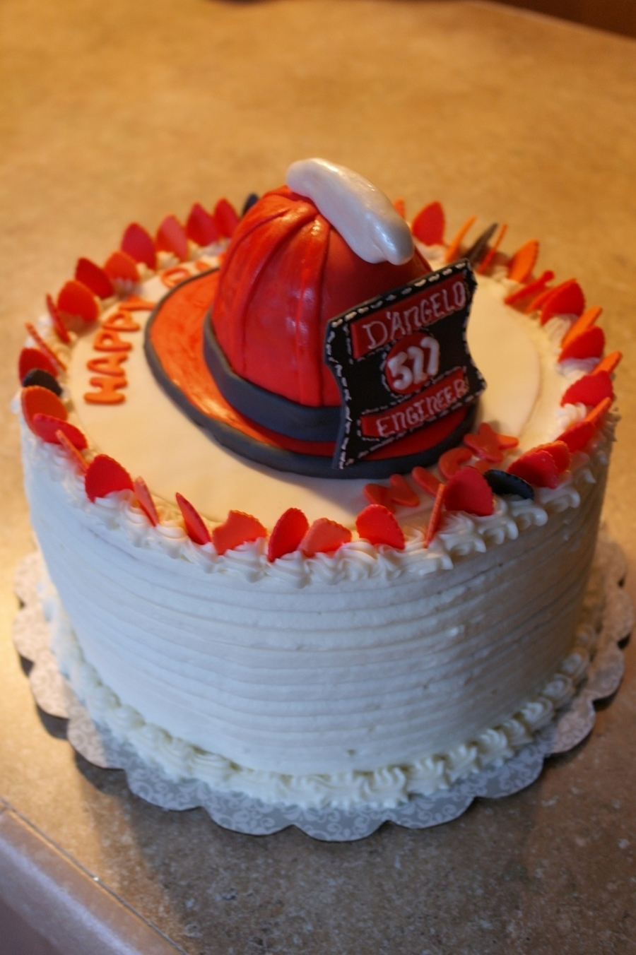 Enjoyable Fireman Birthday Cake Cakecentral Com Funny Birthday Cards Online Elaedamsfinfo