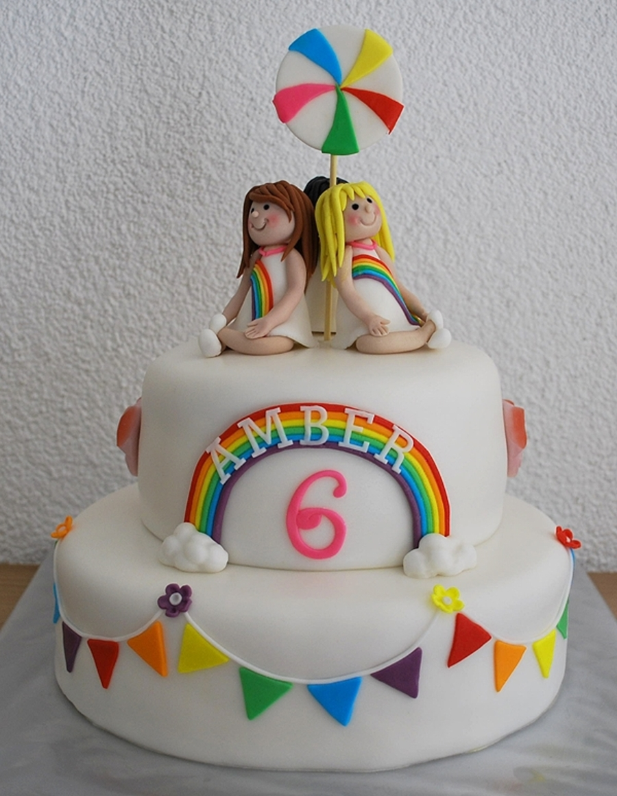 All The Colours Of The Rainbow (K3) Cake on Cake Central