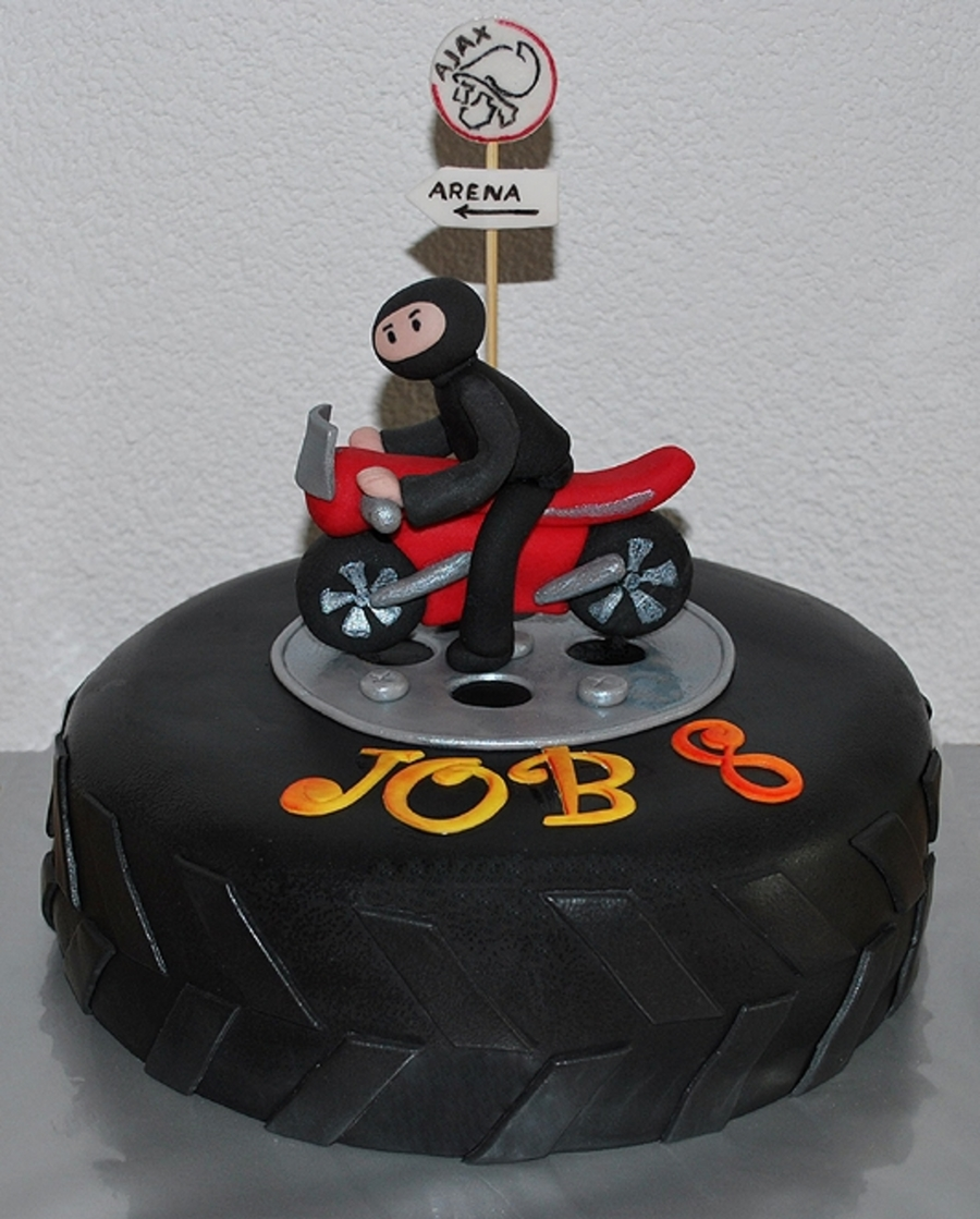 Motorcycle Ajax Cake  on Cake Central