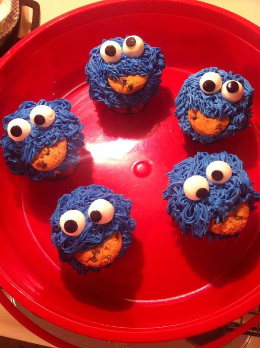 Cookie Monster Cupcakes on Cake Central