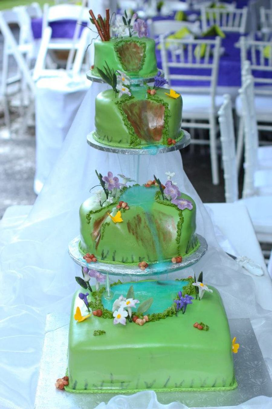 Waterfall Cake on Cake Central