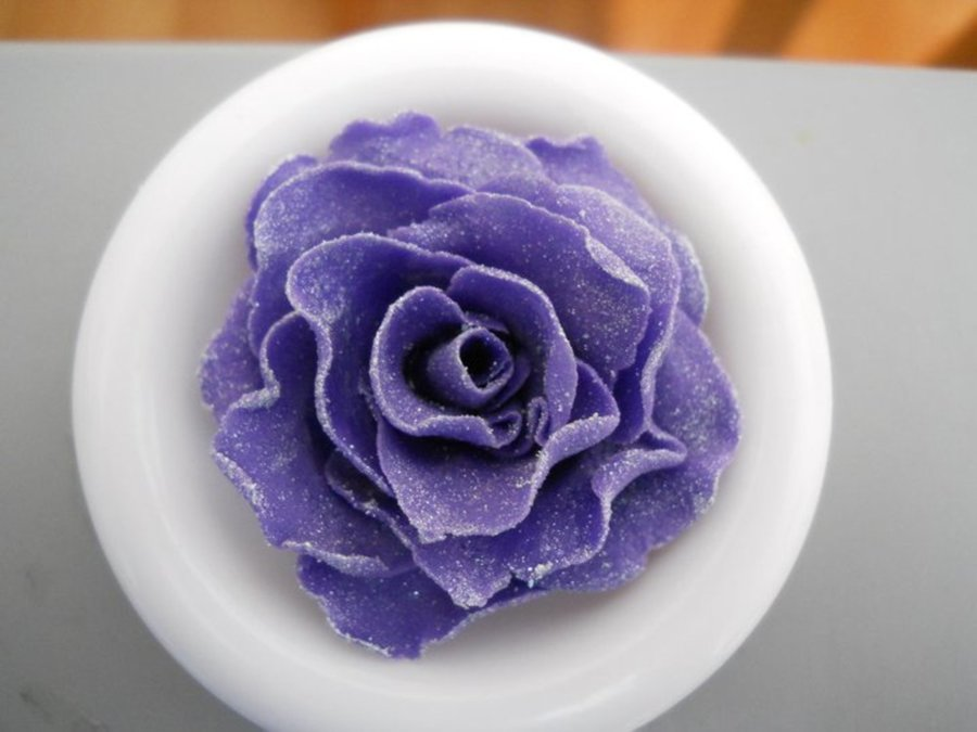 Purple Rose on Cake Central