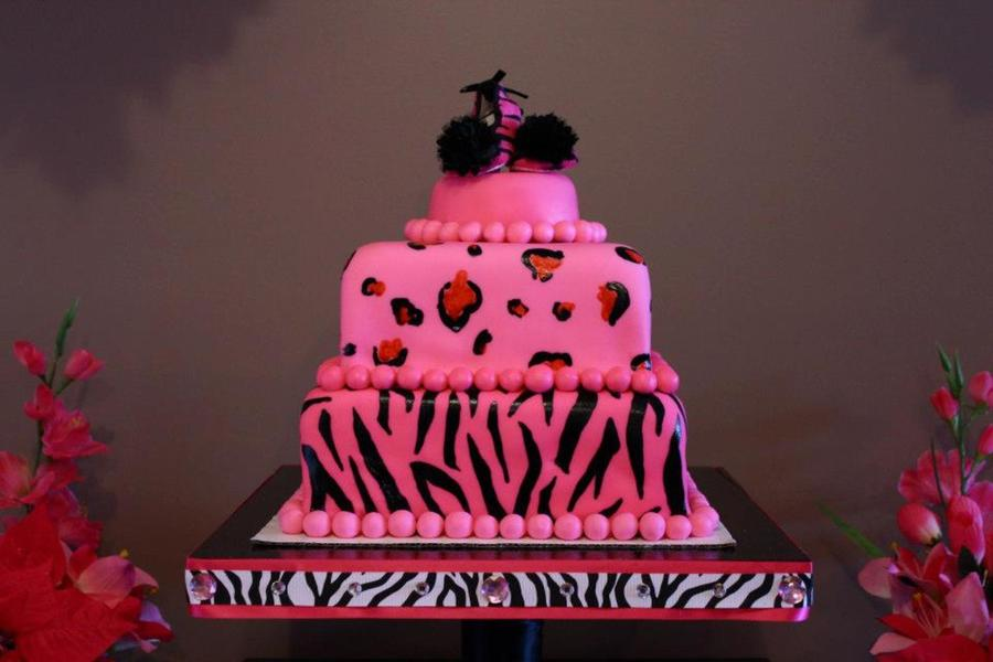 Animal Print Themed Baby Shower Cake Cakecentral