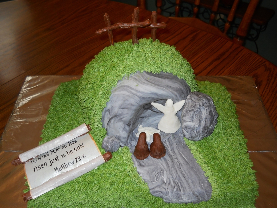 Ressurection, Empty Tomb Cake on Cake Central