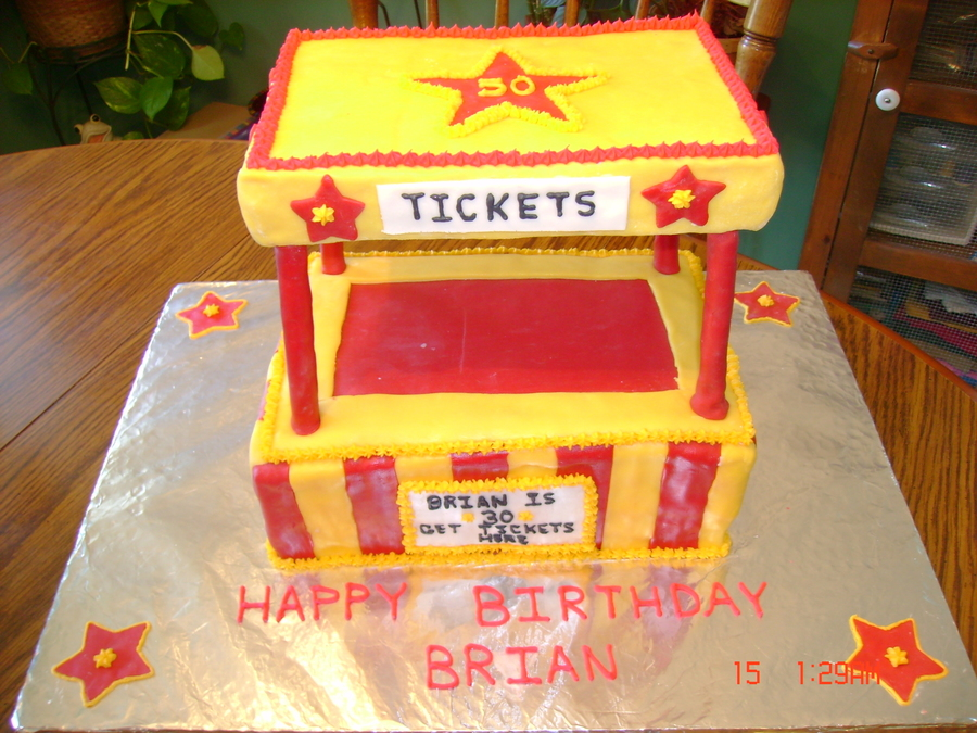 Carnival Ticket Booth Cake on Cake Central