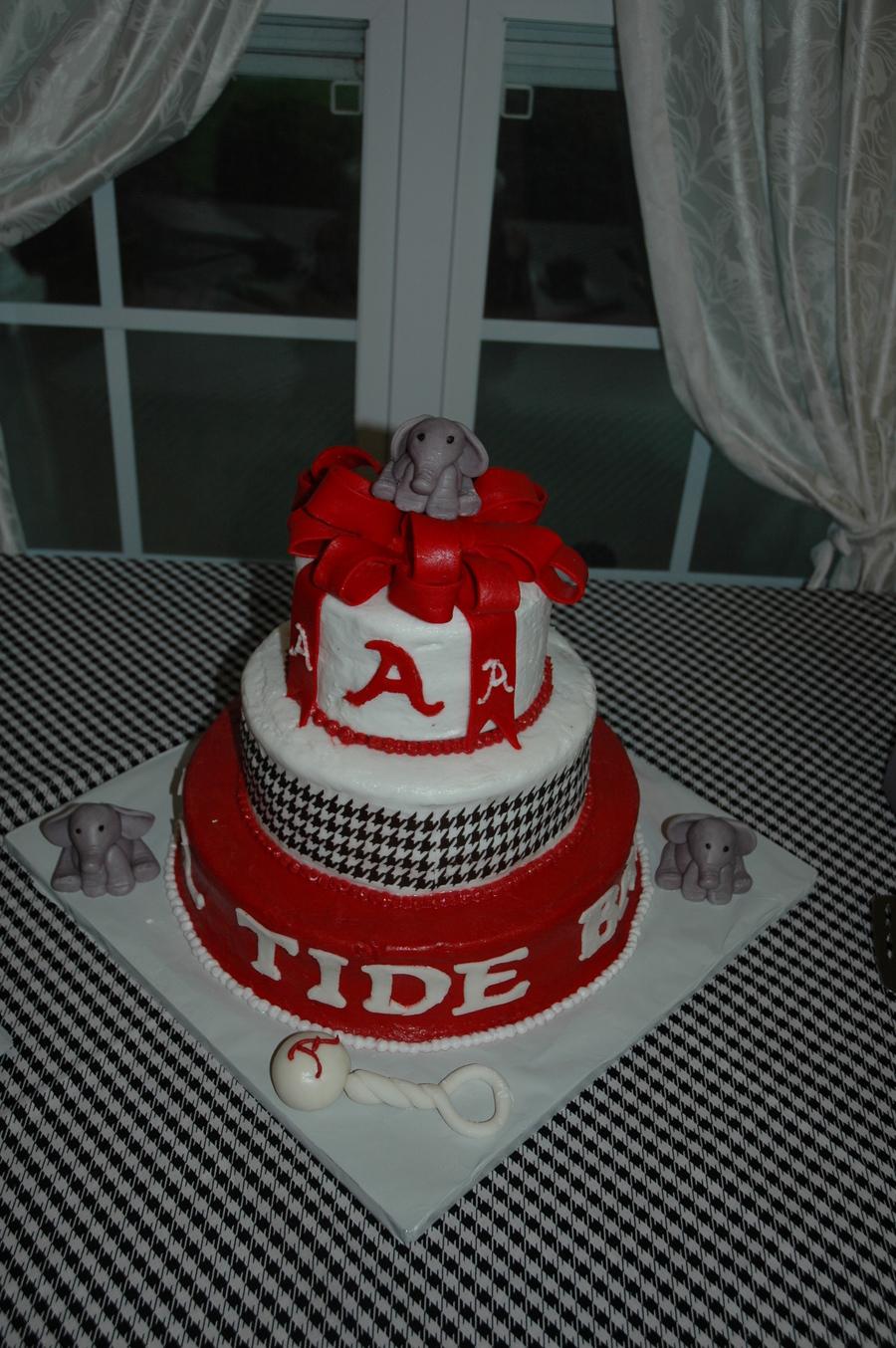 Alabama Crimson Tide Baby Shower Cake Cakecentral Com