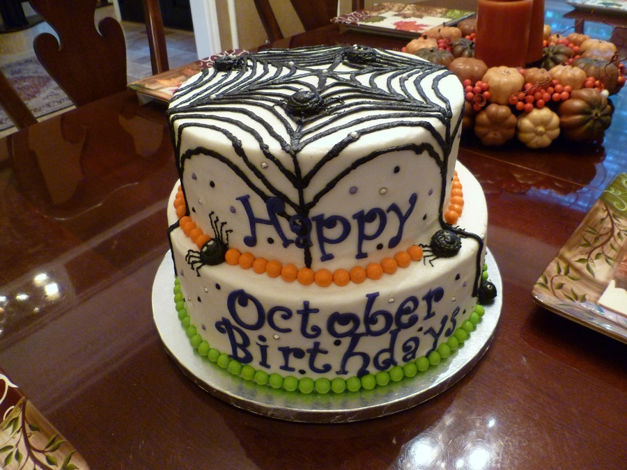Spooky Spider Web on Cake Central