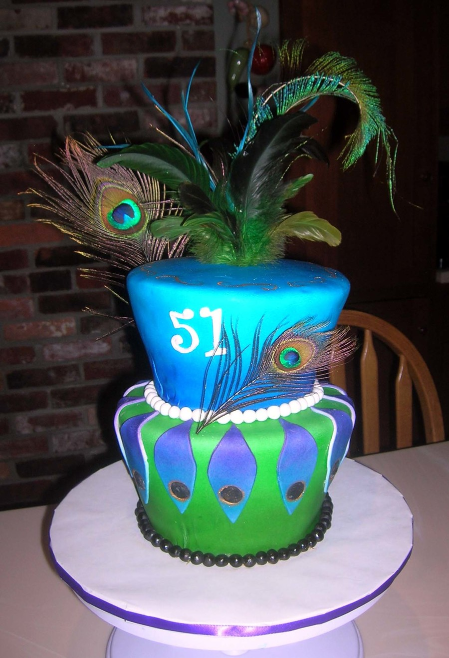Peacock Themed Birthday Cake CakeCentralcom - Peacock birthday cake