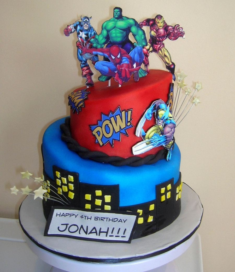 Comic Book Cake Ideas