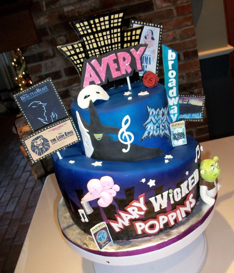 Musicals Birthday Cake