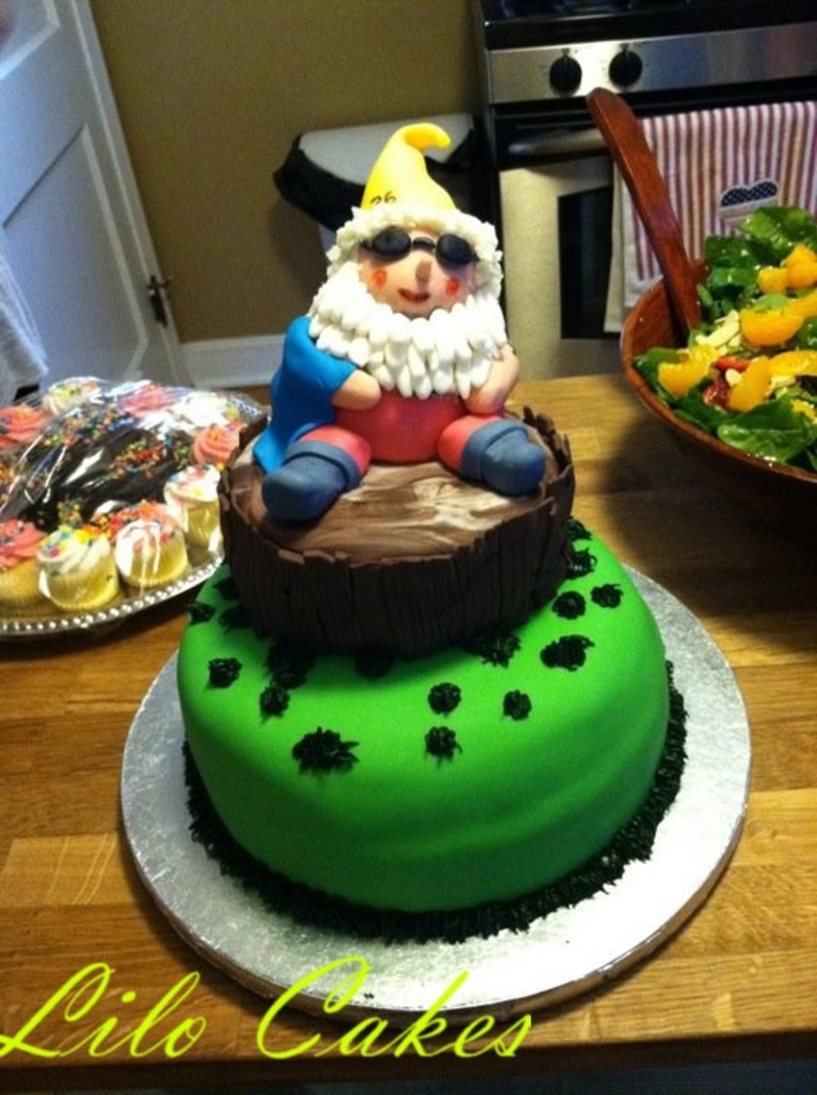 Swimming Gnome :) on Cake Central
