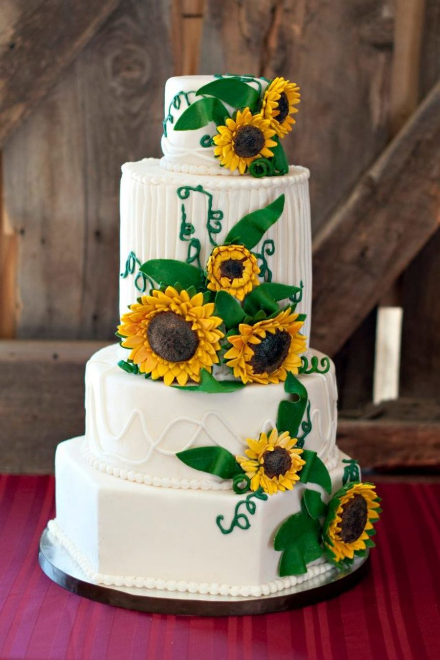 wedding cakes with sunflowers and roses sunflower wedding cake cakecentral 26125