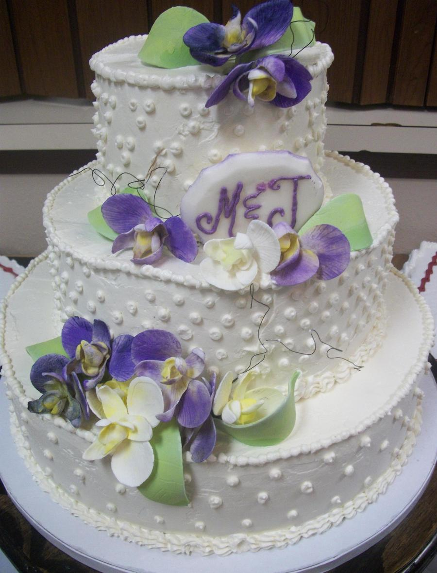 Swiss Meringue Butter Cream With Sugar Flowers on Cake Central