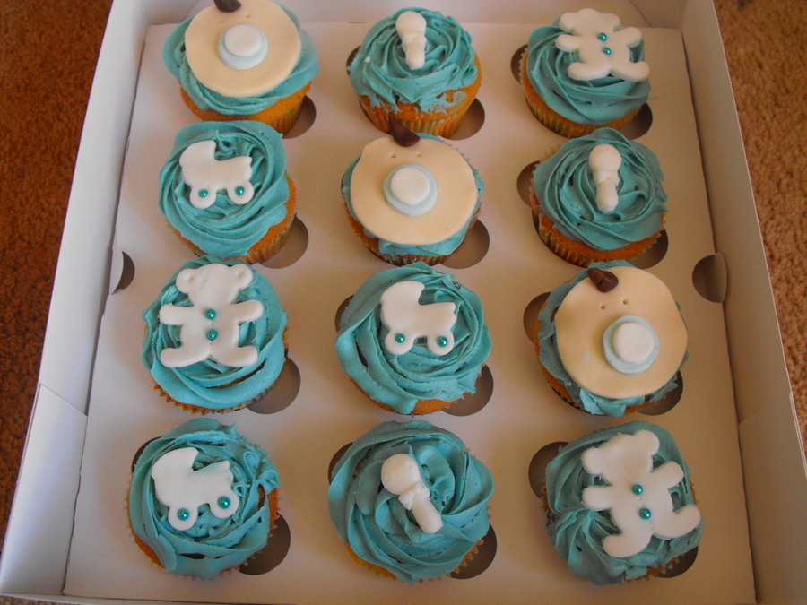 Baby Boy Shower Cupcakes on Cake Central